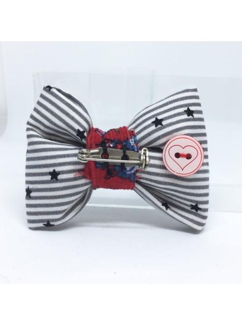 Broche Noeud-Papillon petit modèle Motifs Etoiles