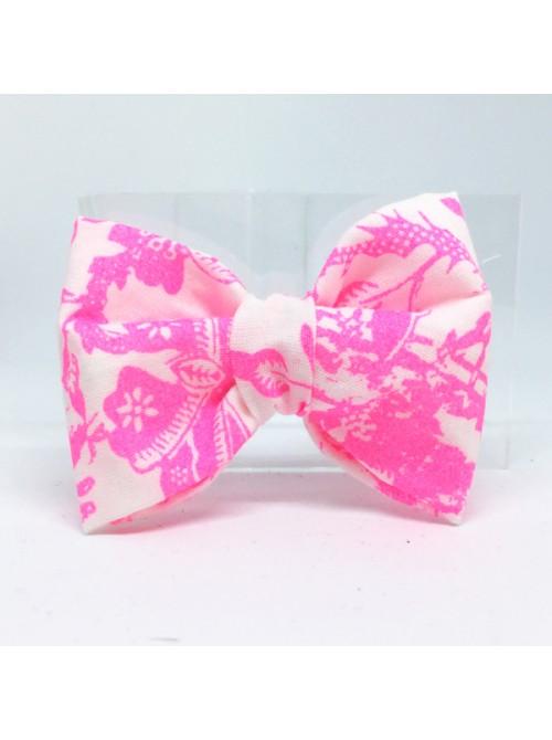 Broche Noeud-Papillon petit modèle Rose Fluo
