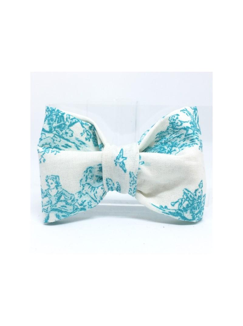 Broche Noeud-Papillon petit modèle Inspiration Toile de Jouy