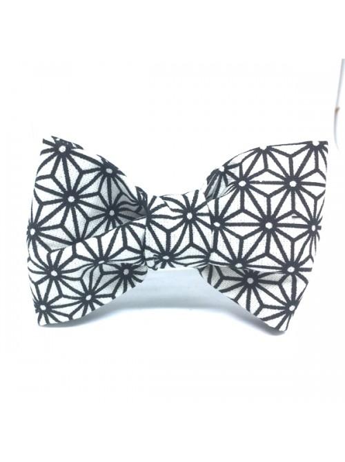 Broche Noeud-Papillon petit modèle Motifs graphiques japonais
