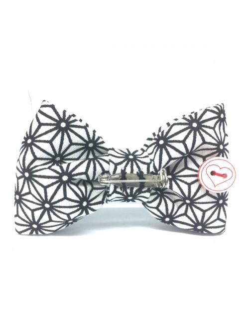 Broche Noeud-Papillon petit modèle Motifs graphisque japonais