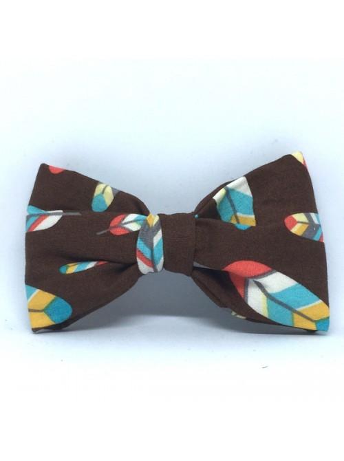 Broche Noeud-Papillon Grand Modèle Plumes
