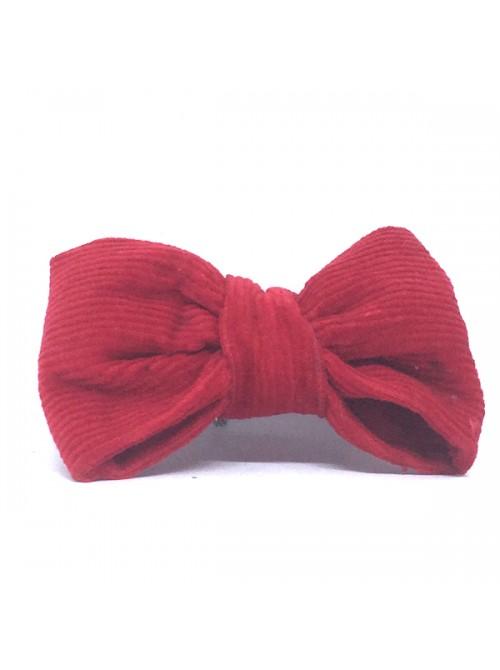 Broche Noeud-Papillon petit modèle Velours Rouge